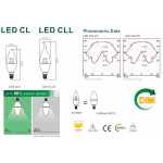 Світлодіодна лампа NVC CLE 5W 3000K E14