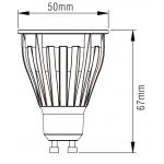 Світлодіодна лампа NVC GU10M 10W 3000K