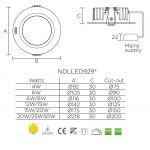 Світлодіодна панель NVC NDLLED9298 30W 4000K