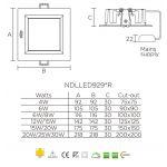 Світлодіодна панель NVC NDLLED9298R 30W 3000K