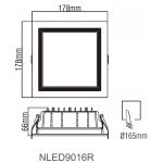 Cветодиодный потолочный cветильник NLED9016R
