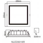 Світлодіодний світильник NVC NLED9018R 30W