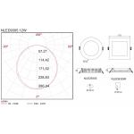 Світлодіодна панель NVC NLED9305R 12W 6500K
