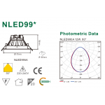 Светодиодный потолочный cветильник NLED995A 12W