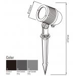 Світлодіодний Прожектор NFLED046 8W 3000K black