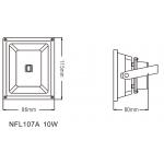 Светодиодный Прожектор NVC NFL107A 10W 4000K черный