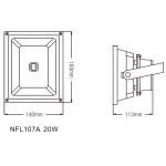 Светодиодный прожектор NVC NFL107A 20W 4000K черный