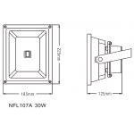 Светодиодный Прожектор NVC NFL107A 30W 4000K черный