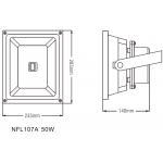 Світлодіодний Прожектор NVC NFL107A 50W 4000K колір чорний