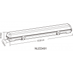 Світлодіодний рейковий світильник NLED491 18W 4000K