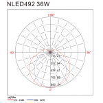Світлодіодний світильник зовнішній NLED492 36W 4000K