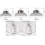 Світлодіодний High Bay прожектор NHBLED302 100W 60°