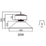 Светодиодный High Bay прожектор NHLED731 30W 60° 4000K