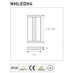 High Bay панель NHLEDР4-675 165W 5000K 18000lm