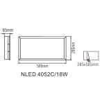 Светодиодная панель NLED4053C 18W 4000K 595x295