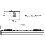 Світлодіодний рейковий світильник NLED492A06 18W 40