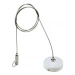 Регульований трос до 2 метрів для підвісу шинопровода трекових світильників NVC TWSK-2M-99. Колір білий.