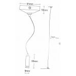 Трос для подвеса шинопровода трековых светильников NVC TWSK-2M-99